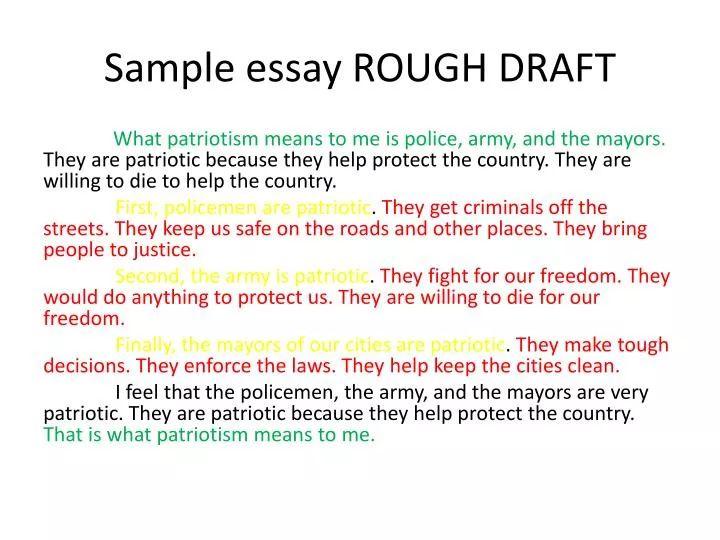 rough draft of an essay