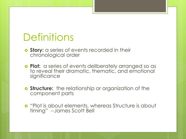 PPT - On Plot and Structure PowerPoint Presentation - ID2613153