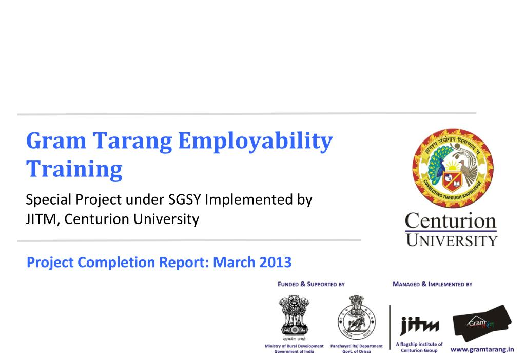 PPT - Project Completion Report March 2013 PowerPoint Presentation