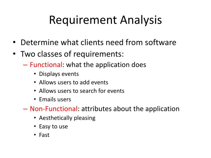 PPT - Requirement Analysis PowerPoint Presentation - ID2631339 - requirement analysis