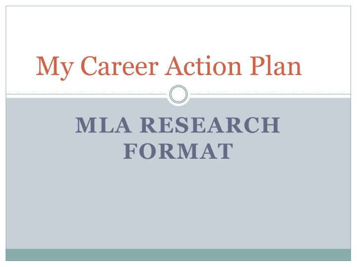 PPT - My Career Action Plan PowerPoint Presentation - ID2692183