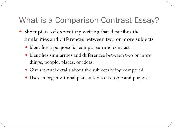 PPT - Comparison/Contrast Essay PowerPoint Presentation - ID2703190