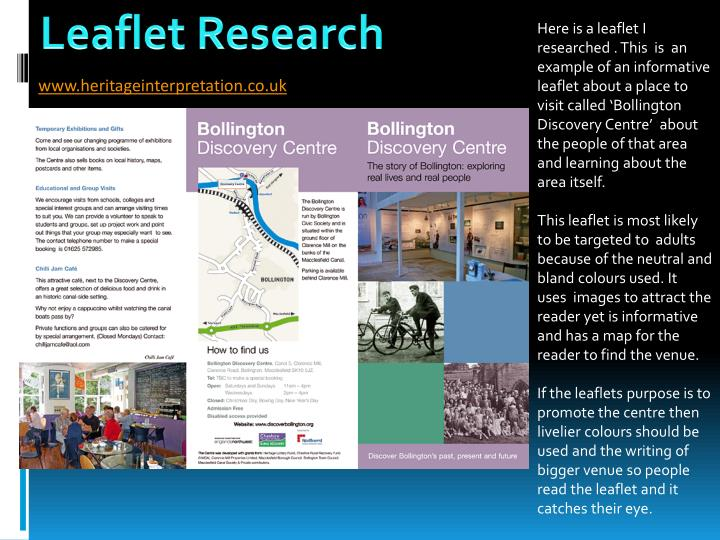 PPT - Leaflet Research PowerPoint Presentation - ID2705918