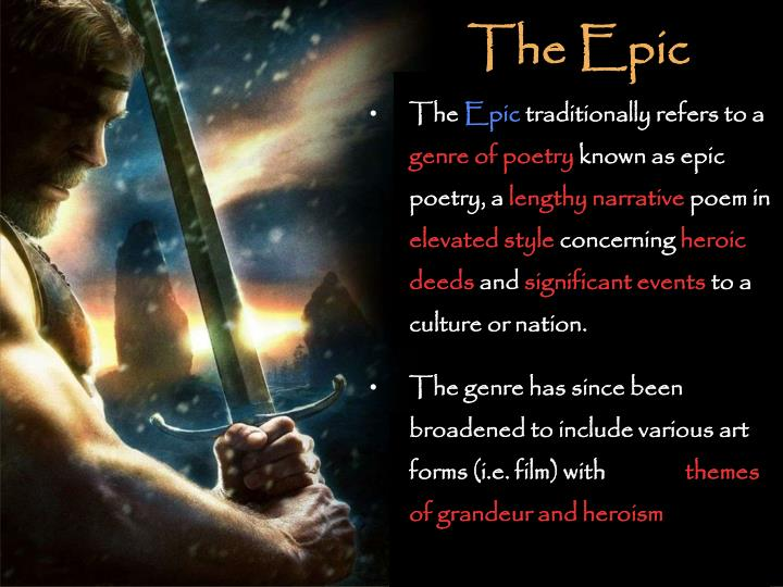 PPT - Epic Poetry PowerPoint Presentation - ID2711689