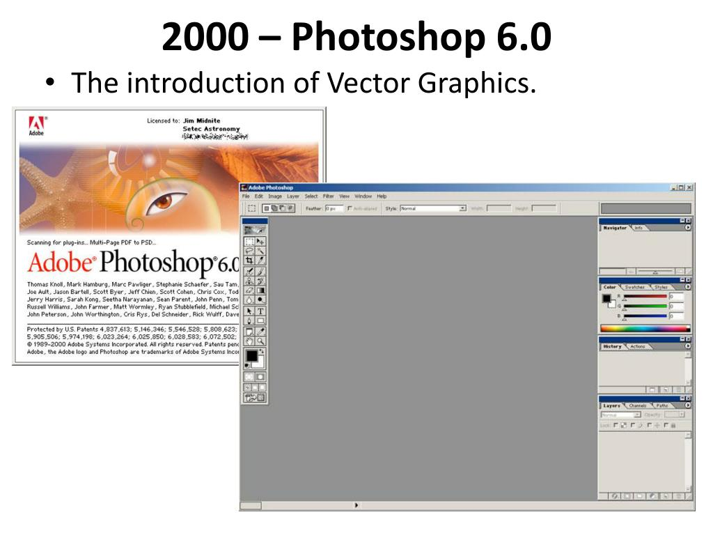 Photoshop 6 Ppt History Of Photoshop Powerpoint Presentation Id 2720675