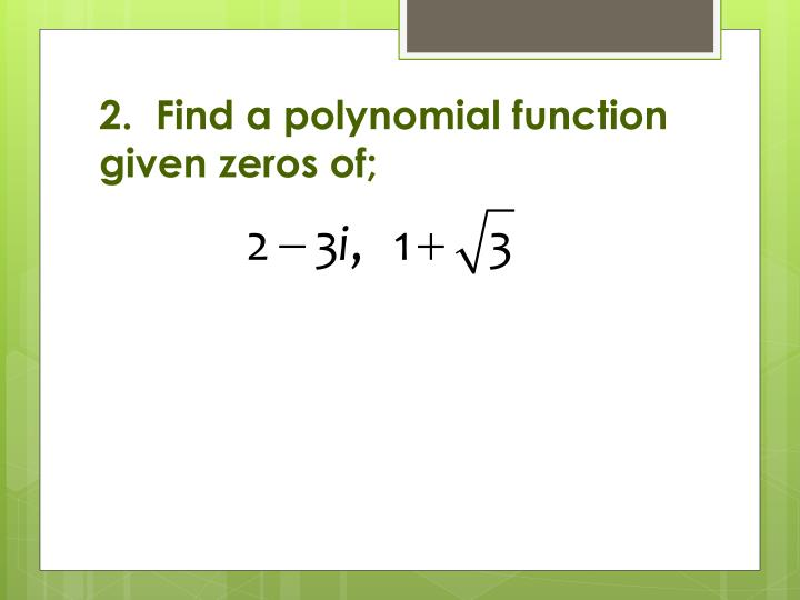 how to find the zeros of a function