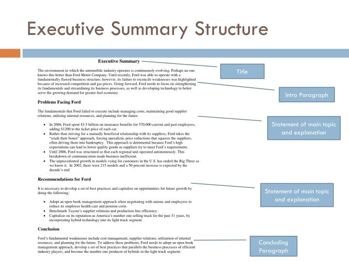 PPT - How to Write an Executive Summary PowerPoint Presentation - ID