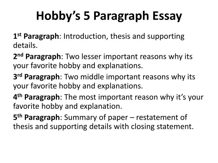 How to write a five paragraph essay powerpoint College paper