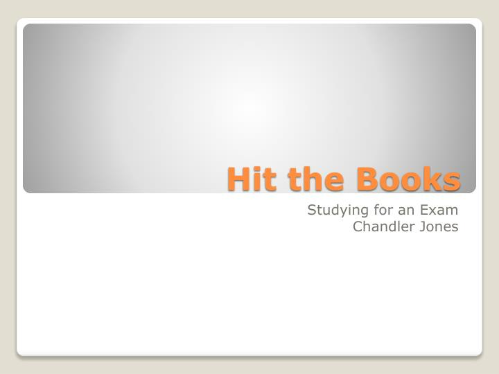 PPT - Hit the Books PowerPoint Presentation - ID2767938 - powerpoint books