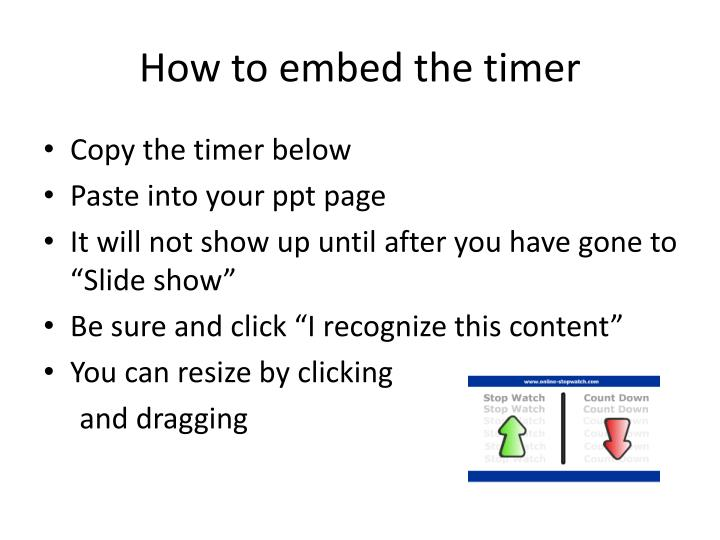 PPT - How to embed the timer PowerPoint Presentation - ID2808738