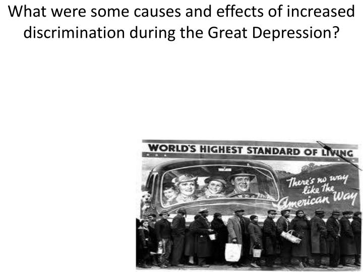 What Were Some Of The Causes And Effects Of The Great Depression