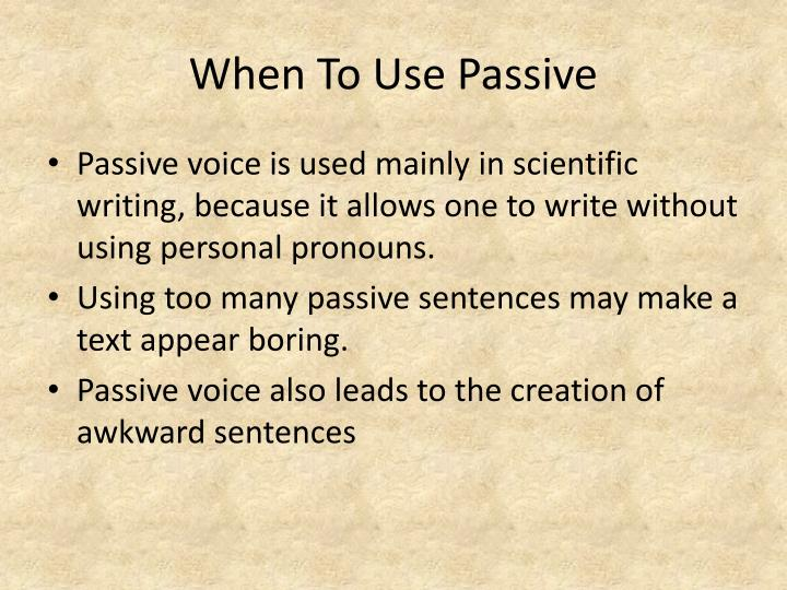 PPT - Using Active And Passive Voice PowerPoint Presentation - ID