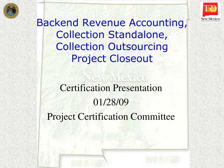 PPT - Backend Revenue Accounting, Collection Standalone, Collection