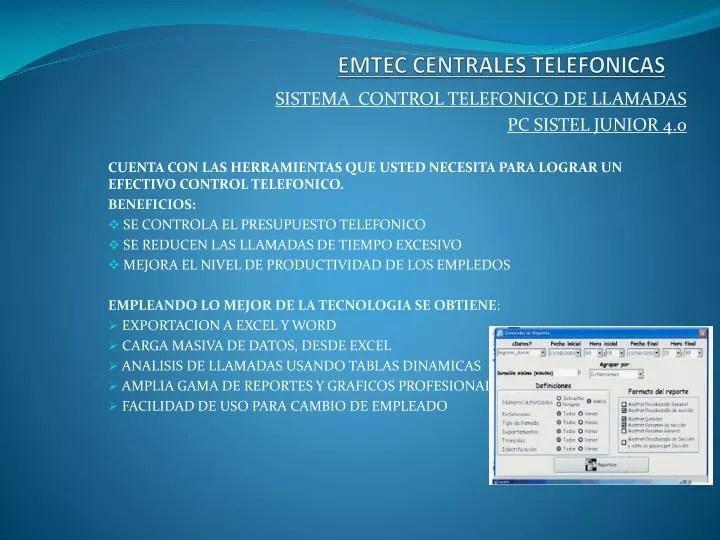 PPT - EMTEC CENTRALES TELEFONICAS PowerPoint Presentation - ID2932541