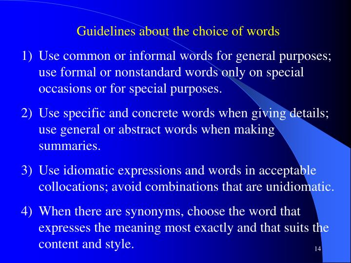 PPT - Diction PowerPoint Presentation - ID2974077