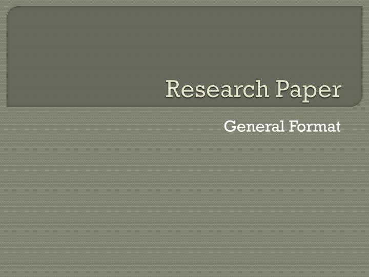 PPT - Research Paper PowerPoint Presentation - ID2977743