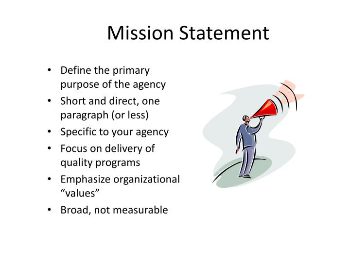 PPT - Mission and Vision Statements PowerPoint Presentation - ID2981312