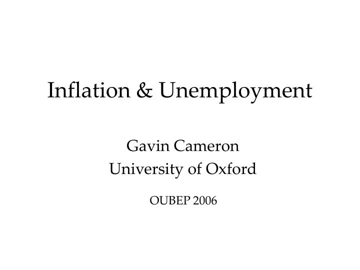 PPT - Inflation  Unemployment PowerPoint Presentation - ID3012471