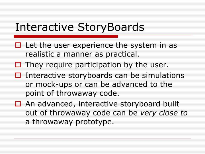 Interactive Storyboards kicksneakers