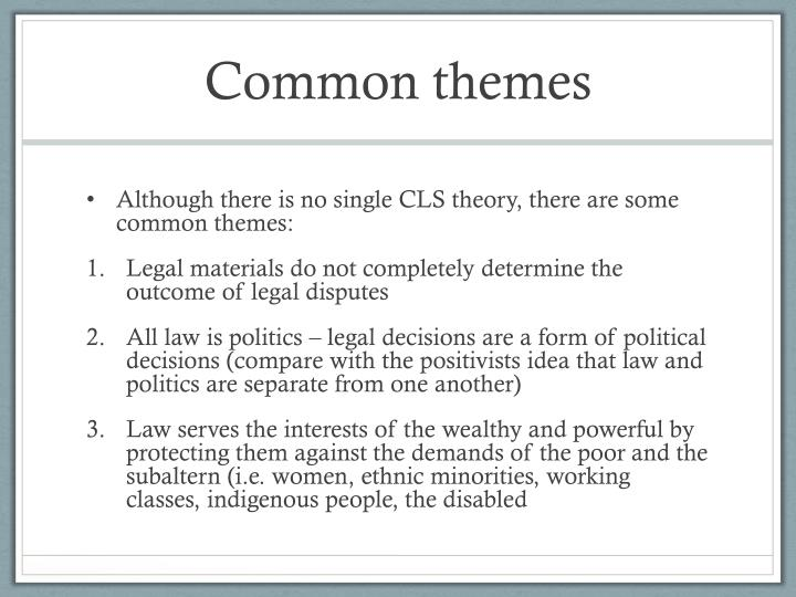 PPT - Critical legal studies, feminism and critical race theory