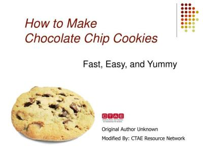 PPT - How to Make Chocolate Chip Cookies PowerPoint Presentation - ID:3105885