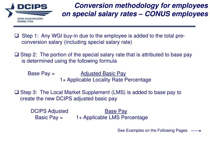 PPT - Appendix B Conversion Methodology and Examples PowerPoint