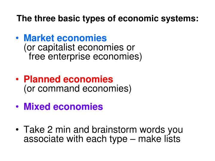 PPT - Types of economies PowerPoint Presentation - ID3202553