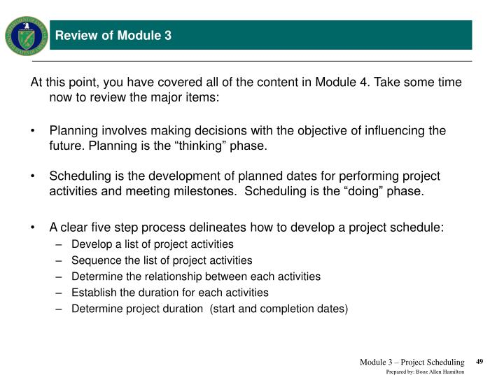 PPT - Earned Value Management Tutorial Module 3 Project Scheduling