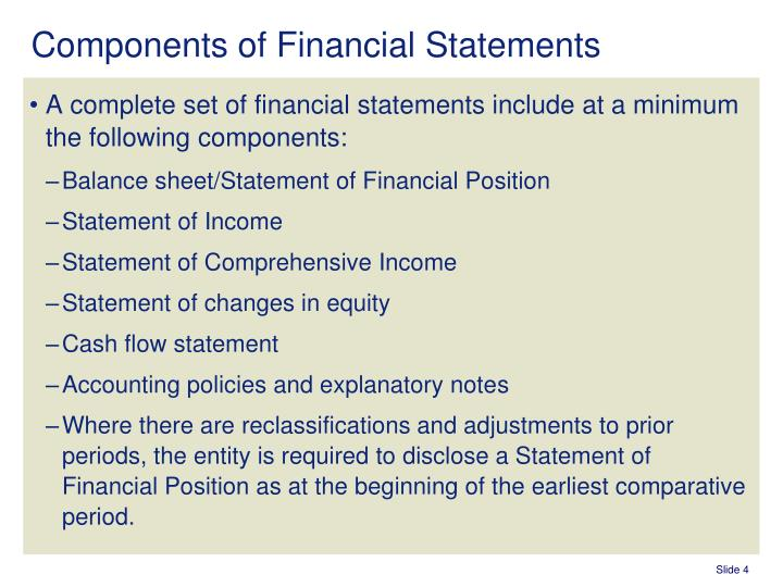 PPT - IAS 1 \u2013 Presentation of Financial Statements PowerPoint - components of income statement