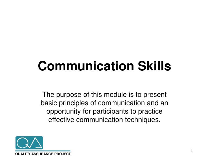 PPT - Communication Skills PowerPoint Presentation - ID3291480