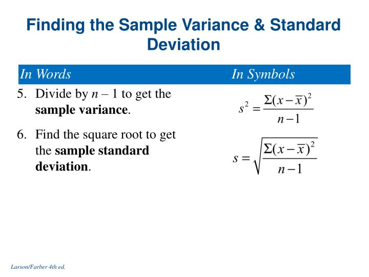 Symbols For Standard Deviation And Variance Choice Image - free
