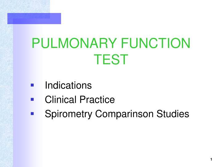 PPT - PULMONARY FUNCTION TEST PowerPoint Presentation - ID3299030