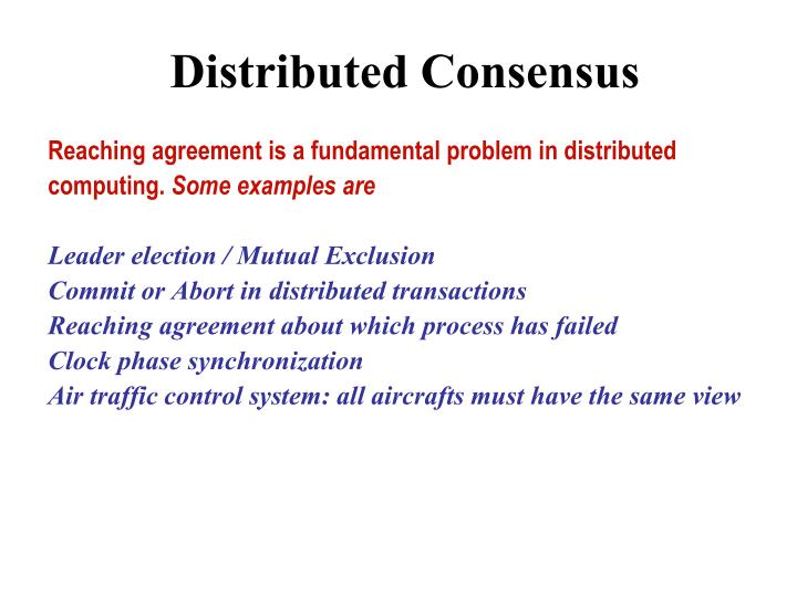 PPT - Distributed Consensus PowerPoint Presentation - ID3302857