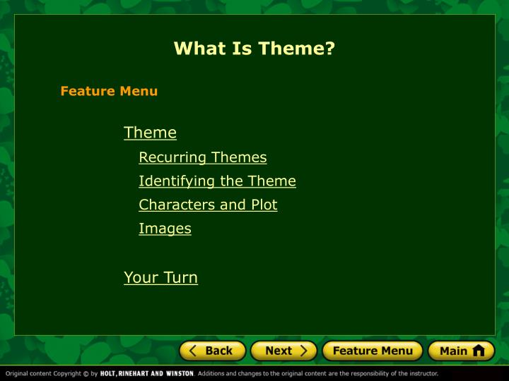 PPT - What Is Theme? PowerPoint Presentation - ID3307665