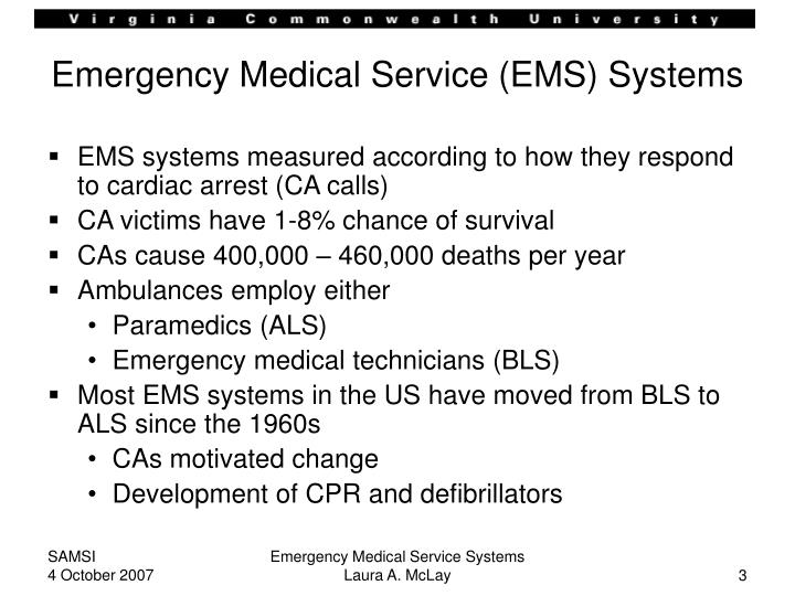Emergency medical services powerpoint Homework Example - April 2019