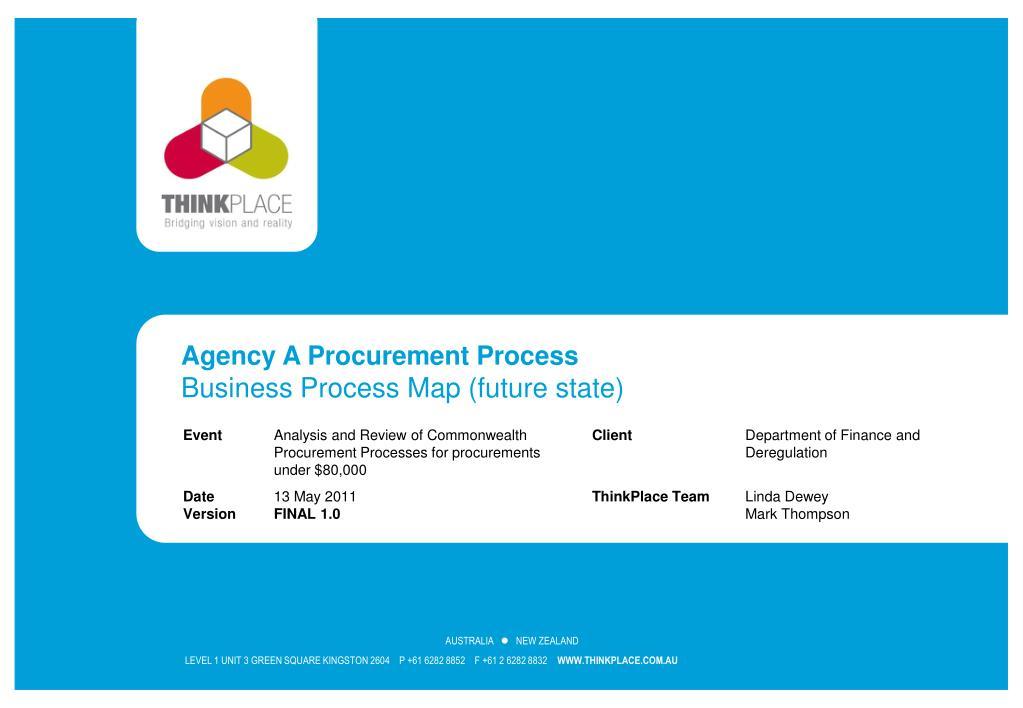 PPT - Agency A Procurement Process Business Process Map (future