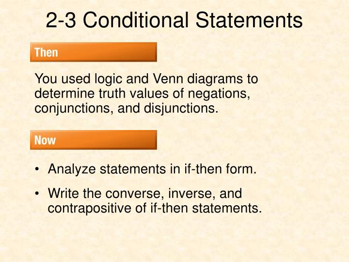 PPT - 2-3 Conditional Statements PowerPoint Presentation - ID3482064