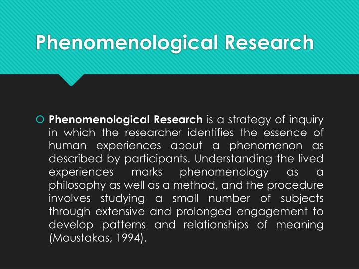 PPT - Phenomenological Research \u201cThe Lived Experience\u201d PowerPoint