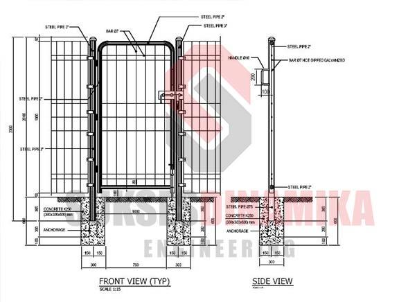 Gambar Pagar Depan Sell Fence Brc Autocad Drawings From Indonesia By Cv