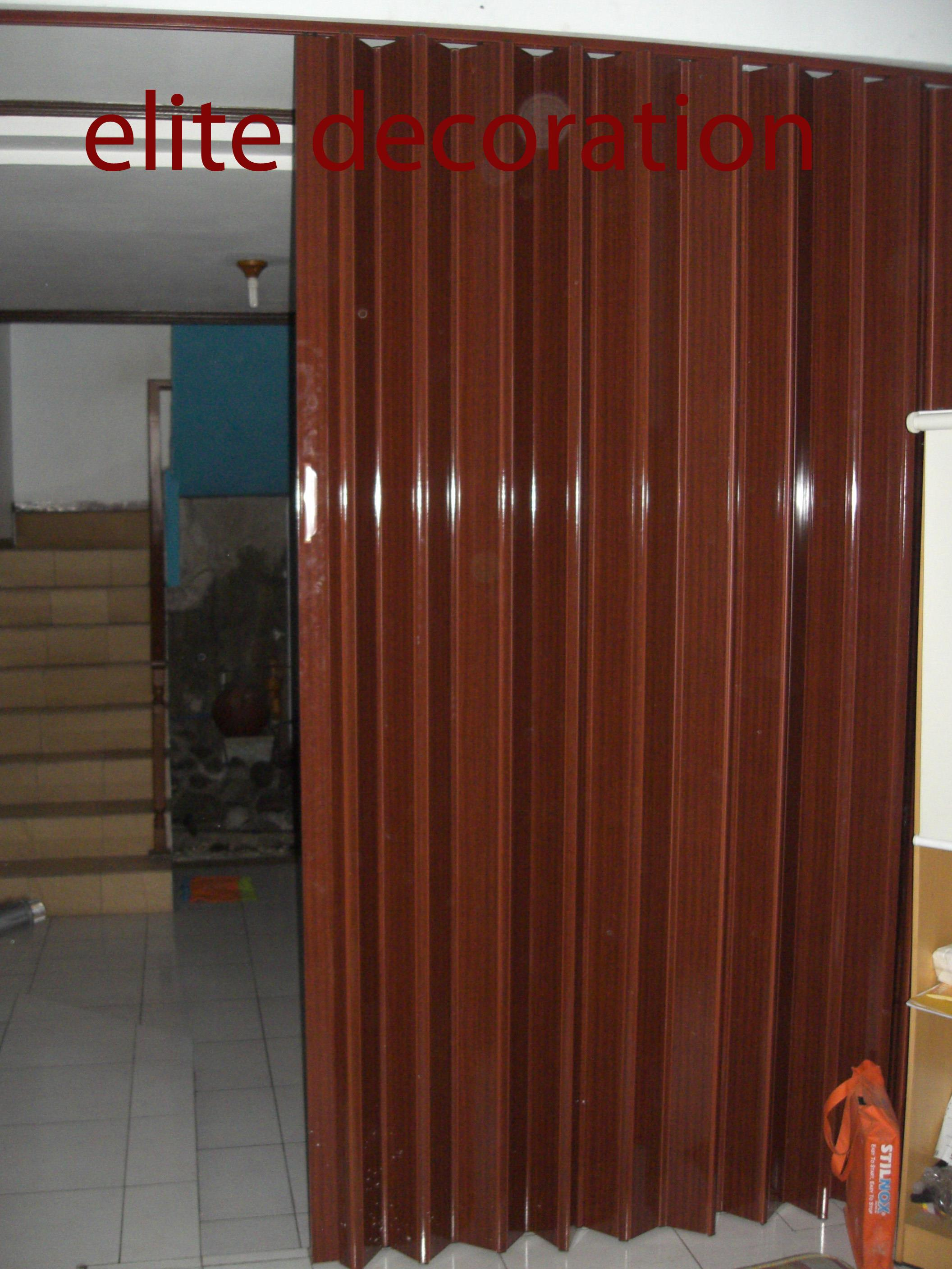 Pintu Sliding Pvc Sell Folding Door Pvc From Indonesia By Toko Elite Decoration Bandung Cheap Price