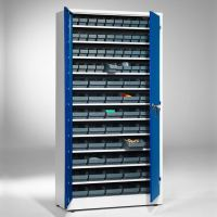 Small parts cabinet + 80 boxes
