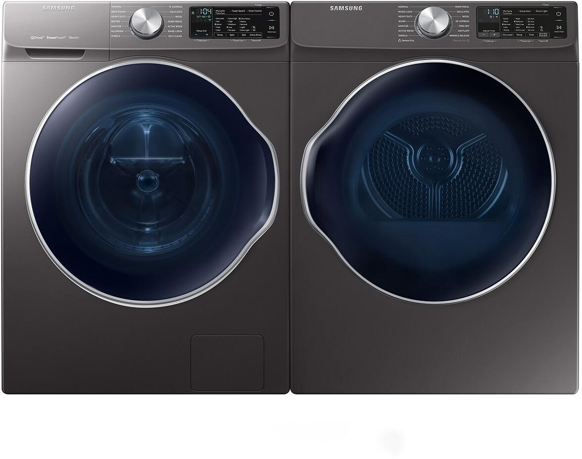 Samsung Front Load Washer Samsung 942100 Side By Side Front Load Electric Laundry Pair Set