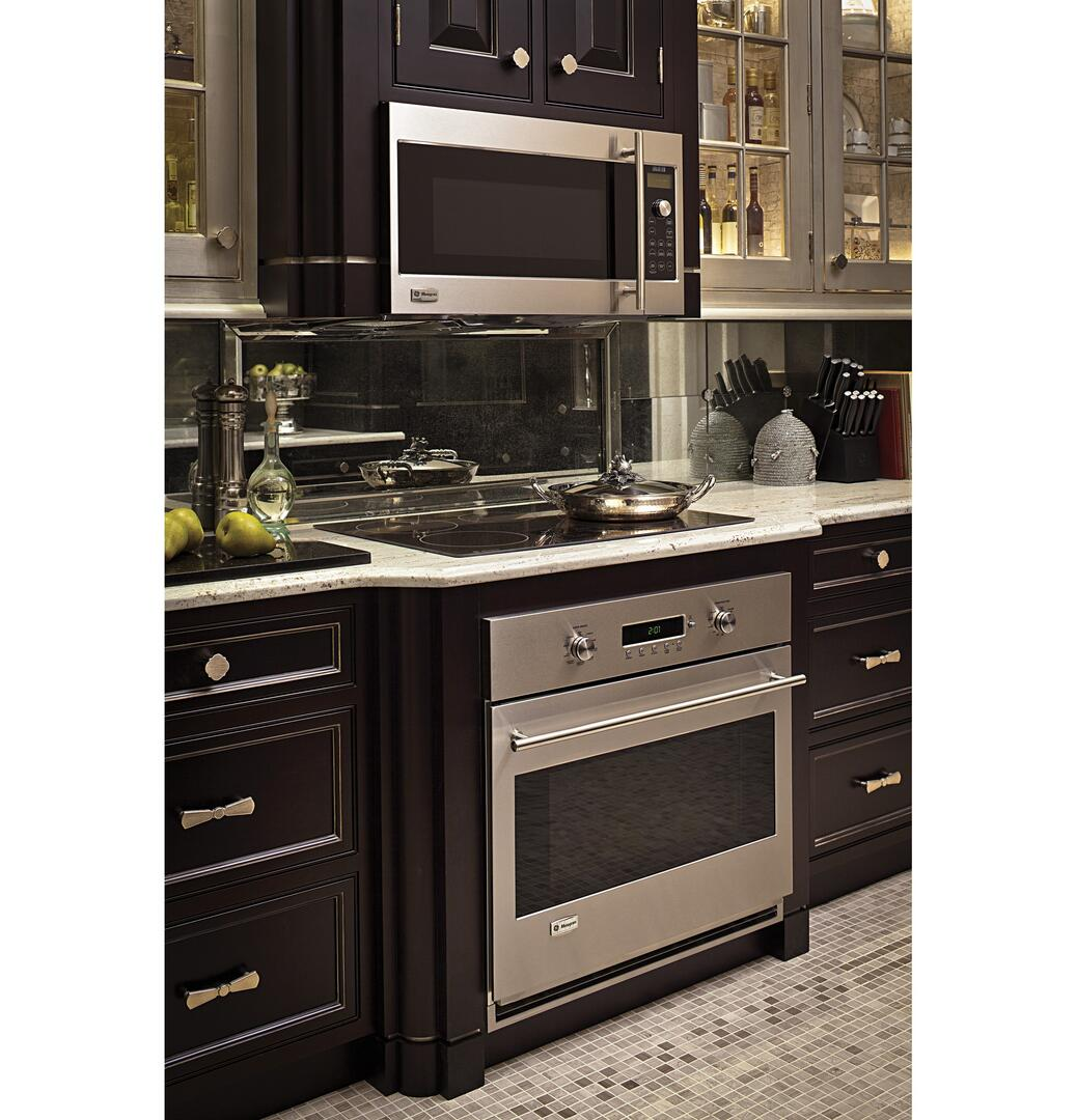 Oven With Cooktop Ge Monogram Zsa2201rss 1 7 Cu Ft Over The Range