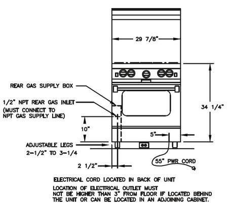 BlueStar BSP304B Platinum Series 30 Inch Gas Freestanding Range, in