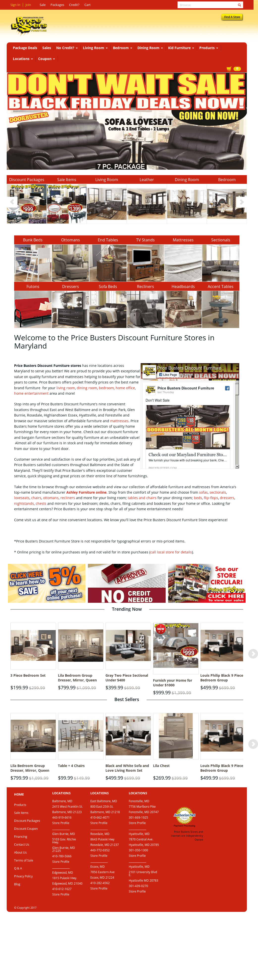 399 Furniture Store Price Busters Furniture Stores In Maryland Competitors Revenue