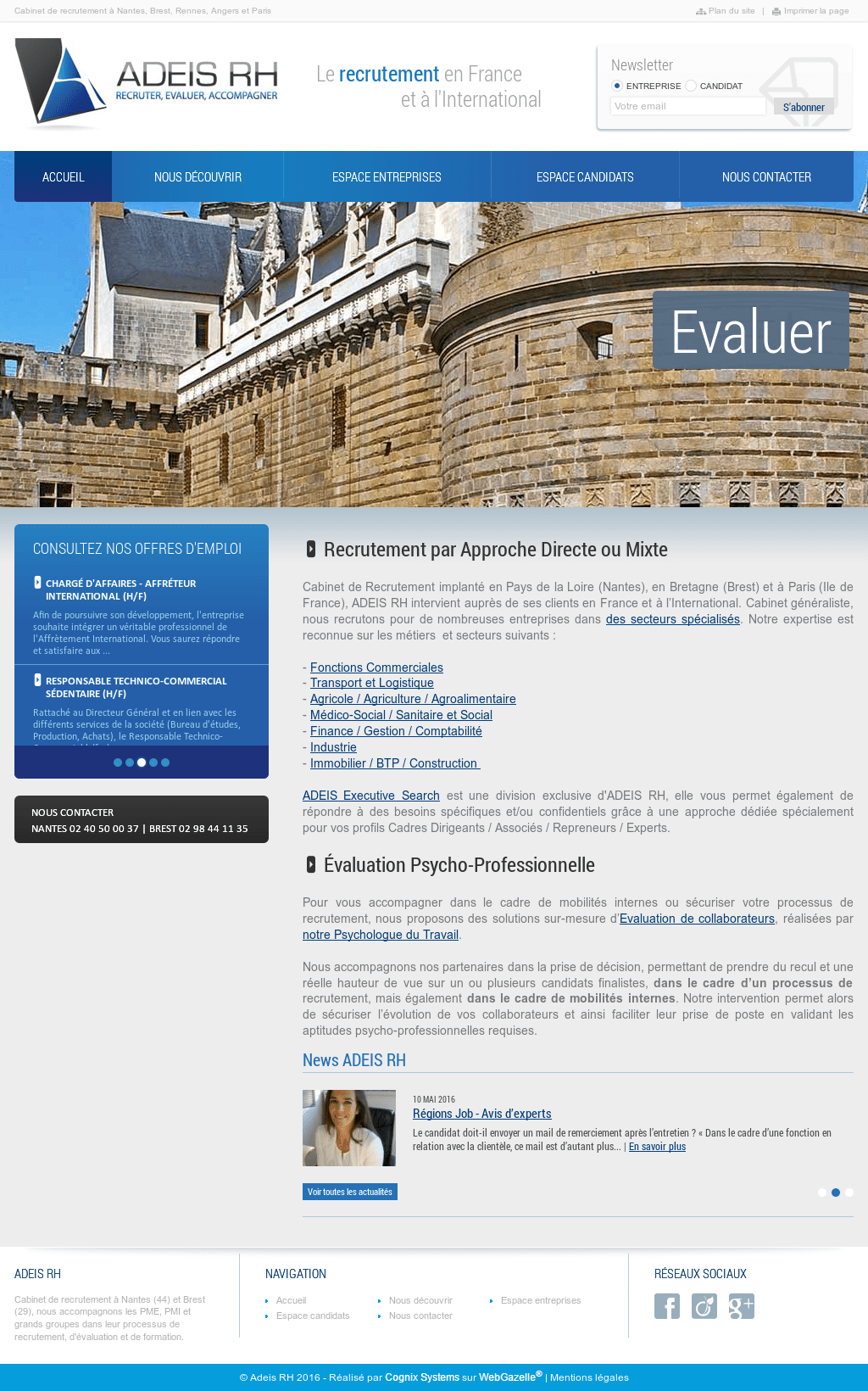 Cabinet De Recrutement Nantes Adeis Rh Competitors Revenue And Employees Owler Company Profile
