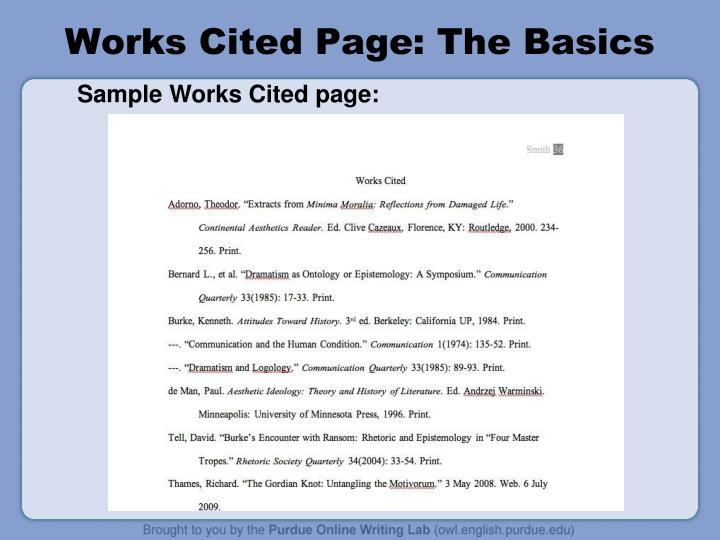 edit your works cited page for proper mla format by