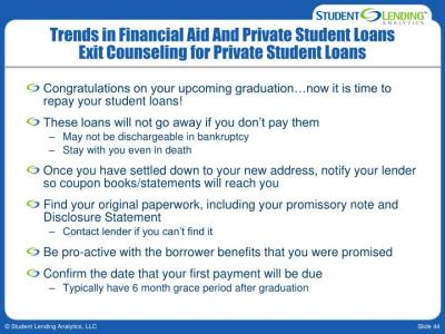 PPT - ISFFA Annual Conference Trends in Financial Aid And Private Student Loans December 7, 2009 ...