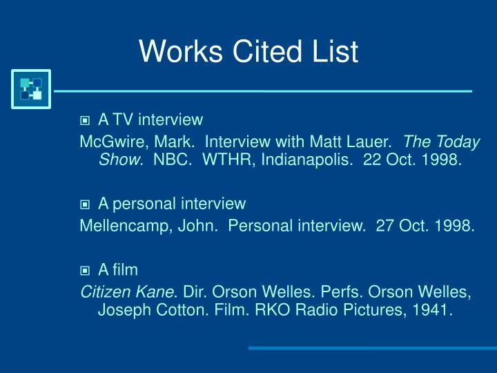 mla citation page solahub ruralpersonal interview works cited