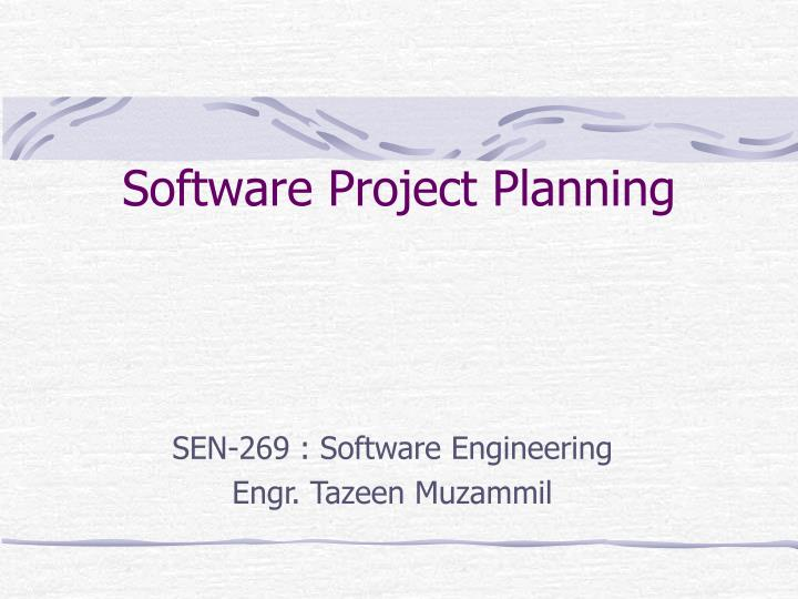 PPT - Software Project Planning PowerPoint Presentation - ID3748561